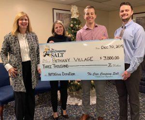 Cope Salt Donates $3000 to Bethany Village