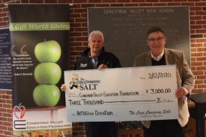 Cope Salt Donates $3000 to Conestoga Valley Education Fund